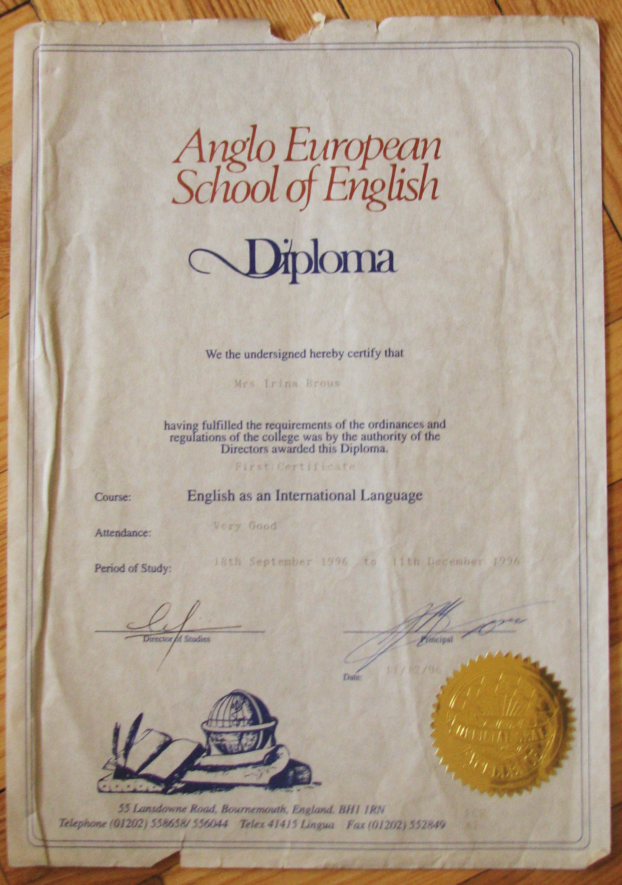 Irina Bruce - Anglo-European School of English